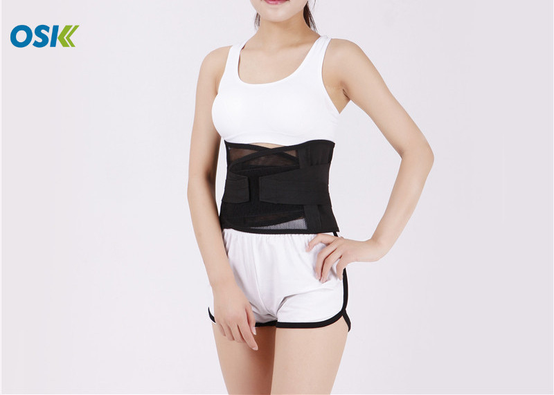 Orthopedic Waist Support Brace Mesh Material For Preventing Sports Injuries